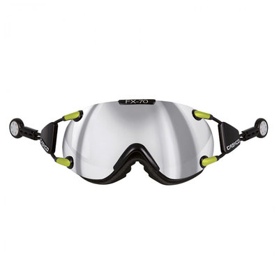 Skibril Casco fx-70 carbonic - black-neon - mirror cat. 2 - (☁/☀)
