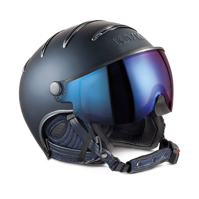 Skihelm Kask Chrome - Blue - Iridium Mirror Vizier ☀