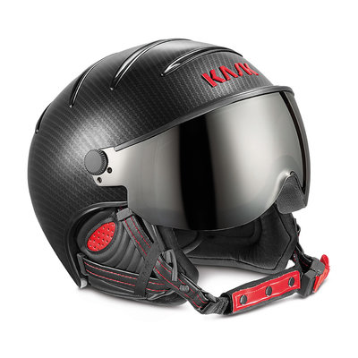 Skihelm Kask elite pro  - carbon black red - photochromic Vizier cat. 2(☁/❄)