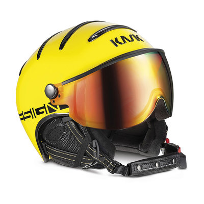 Skihelm Kask Montecarlo  - Yellow -  Red Mirror Vizier (☀☀)