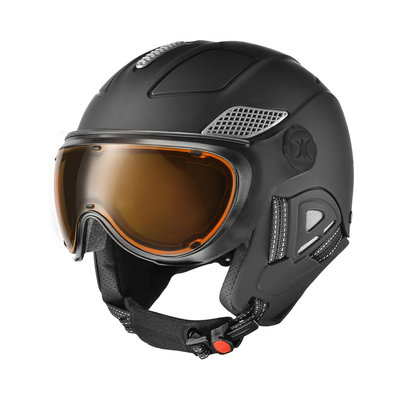 Skihelm Slokker  raider pro  - black - photochromic polarized Vizier  (☁/☀/❄)