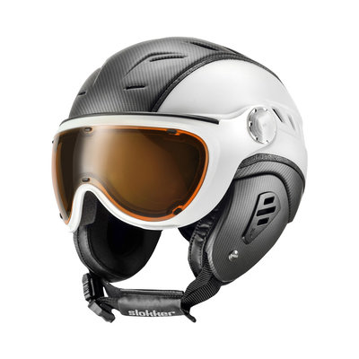 SLOKKER BAKKA SKIHELM - BLACK WHITE - PHOTOCHROM POLARIZED VIZIER CAT. 1-2 (☀/☁/❄)
