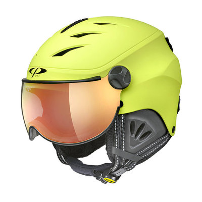 Skihelm met Vizier Kind - CP Camulino sulphur spring - flash gold mirror Visor cat. 3 - (☀)