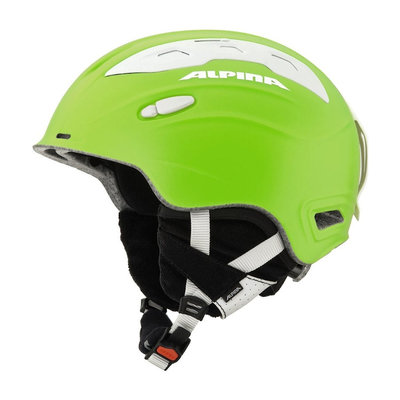 Skihelm Skihelm Alpina snow mythos  - lime silk matt