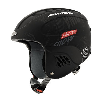 Skihelm Skihelm Alpina carat  - black red