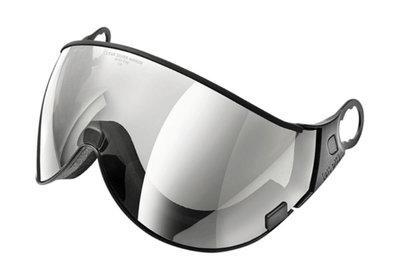 CP 02 Skihelm Vizier los - clear silver mirror - cat. 2 (☁/❄/☀) - Voor CP Camurai, Cuma en Curako Skihelmen