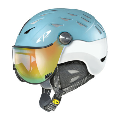 Skihelm CP cuma  - aqua haze silver birch shiny - dl meekleurend multicolour mirror Vizier cat.2 -(☀/☁)