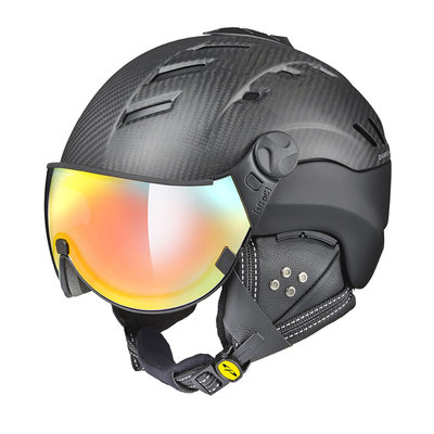Skihelm CP camurai  - dark carbon zwart - dl meekleurend multicolour mirror Vizier cat. 2-3 - (☁/❄/☀)