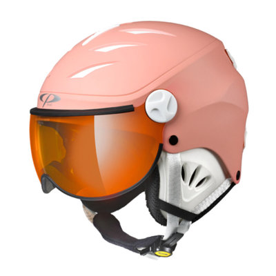 Skihelm met Vizier Kind - CP Camulino quarz pink - orange silver mirror visor cat. 2 - (☁/❄/☀)