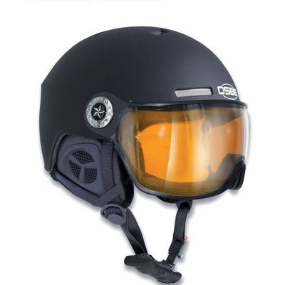 Skihelm Osbe Aire Visor (new light r)  - dull black - Vizier cat. 1-3(☁/❄)