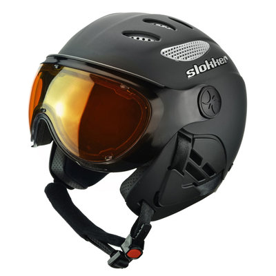 Skihelm Slokker  raider  - black - photochromic polarized Vizier  (☁/☀/❄)