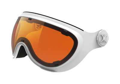 Skihelm Slokker los Vizier orange white -  (☁/☀/❄)