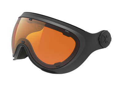 Skihelm Slokker  los Vizier orange black -  (☁/☀/❄)