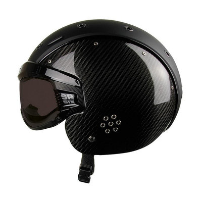 CASCO SP-6 SKIHELM - LIMITED CARBON ZWART - PHOTOCHROM VAUTRON VIZIER - CAT.1-3 (☁/☀/❄)