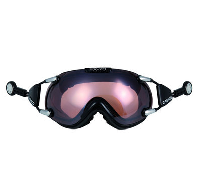 Skibril Casco fx-70 vautron  - Zwart - photochromic polarized cat. 1-3 -(☁/❄)