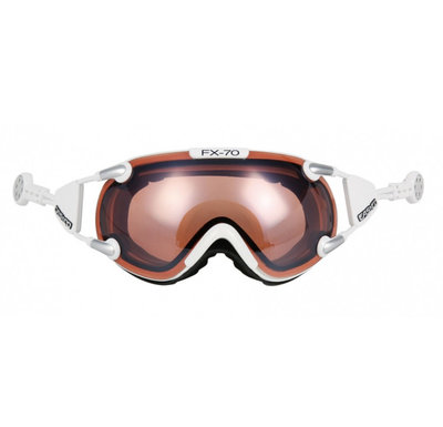 Skibril Casco fx-70 vautron  - Wit - photochromic polarized cat. 1-3 -(☁/❄)