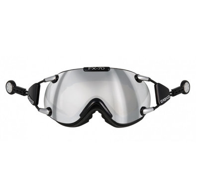 Skibril Casco fx-70 carbonic - Zwart - mirror cat. 2 - (☁/☀)