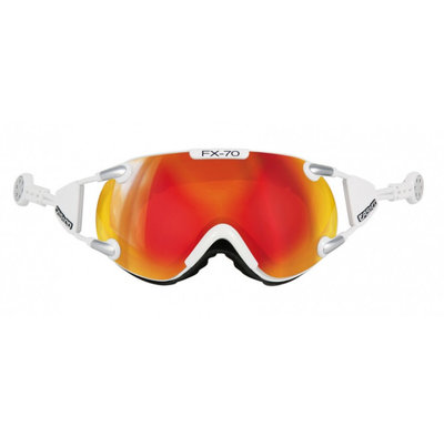 Skibril Casco fx-70 carbonic  - Wit - mirror cat. 2 - (☁/☀)