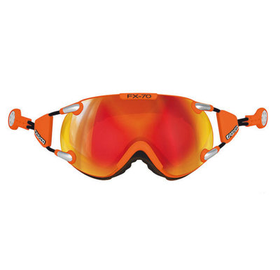 Skibril Casco fx-70 carbonic  - Oranje - mirror cat. 2 - (☁/☀)