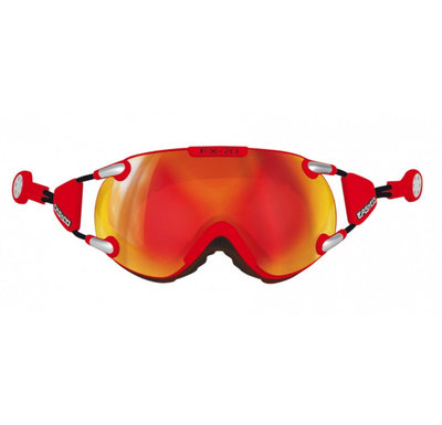 Skibril Casco fx-70 carbonic  - Rood - mirror cat. 2 - (☁/☀)