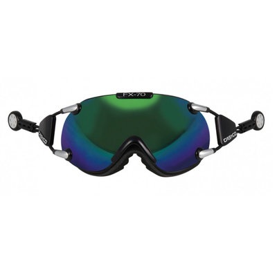Skibril Casco fx-70 carbonic  - Groen - mirror cat. 2 - (☁/☀)