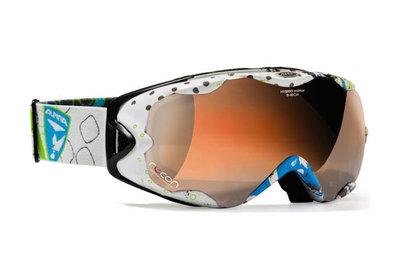 Skibril Alpina r-tech hm  white grey overcross - doubleflex hybrid mirror (☁/☀)