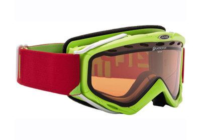 Skibril Alpina spice qlh  unisex s-m lime - dl hicon s2 - quattroflex (☁/☀)