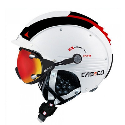 Skihelm  Casco sp-5  - Rood Wit - voor dames & heren