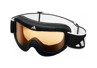 Skibril Adidas pinner  een maat glanzend black-lst bright  (☁/☀)