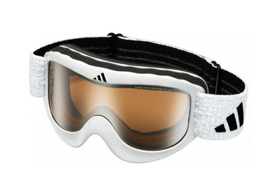 Skibril Adidas pinner  een maat glanzend Wit-lst bright  (☁/☀)