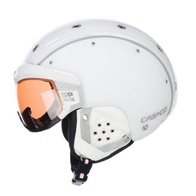 Skihelm  Casco sp-6  - Wit - photochrom vautron Vizier - cat.1-3(☁/❄)