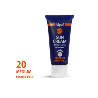 zonnebrandcreme  Alpen sun combi roll-on me factor 20+