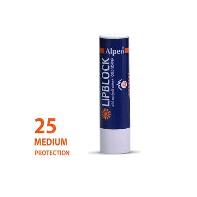 zonnebrandcreme alpen lippenstift  factor 25+