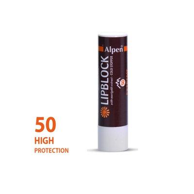 zonnebrandcreme  alpen lippenstift me factor 50+