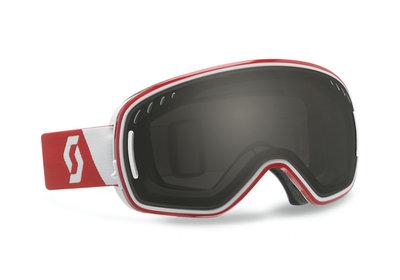 Skibril Scott lcg verwisselbare lens  l Rood Wit-Zwart chroom 15% vlt (☁/☀/❄)