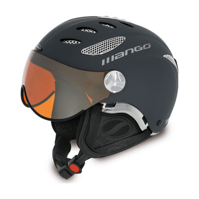 Skihelm Mango cusna pro free xp  - blue grijs -  orange mirror (☁/❄)