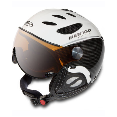 Skihelm Mango cusna pro free xp  - Wit carbon -  orange mirror (☁/❄)