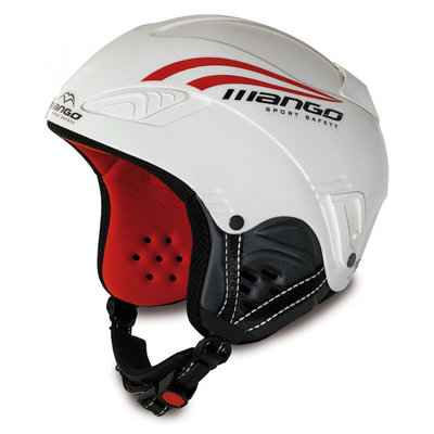 Skihelm Mango wind  - Wit