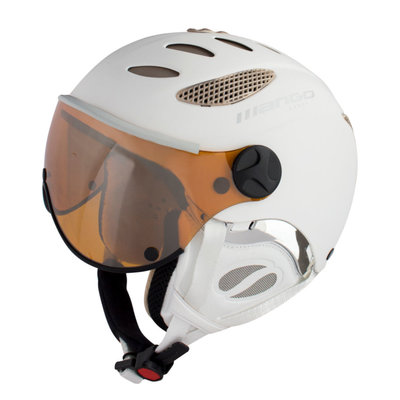 MANGO CUSNA FREE SKIHELM - PROSECCO MAT - ORANGE MIRROR VIZIER CAT. 2 - (☁/☀/❄)