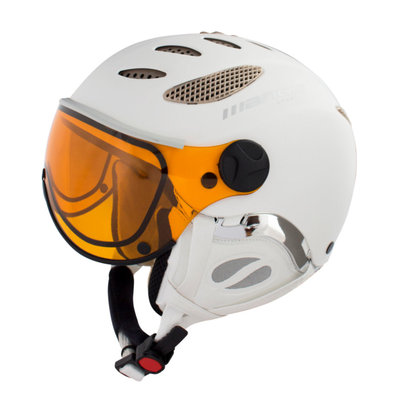 Skihelm Mango cusna free  - white mat - photochromic orange  cat. 2-3(☁/❄)