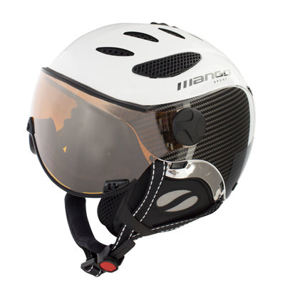 Skihelm Mango cusna free  - black carbon - orange mirror cat. 2 -(☁/❄)