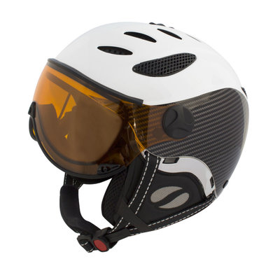 Skihelm Mango cusna free  - black carbon - photochromic orange  cat. 2-3(☁/❄)