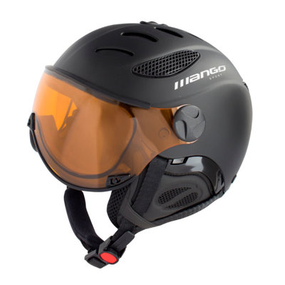 Skihelm Mango cusna free  - black - photochromic orange cat. 2-3 (☁/☀/❄)