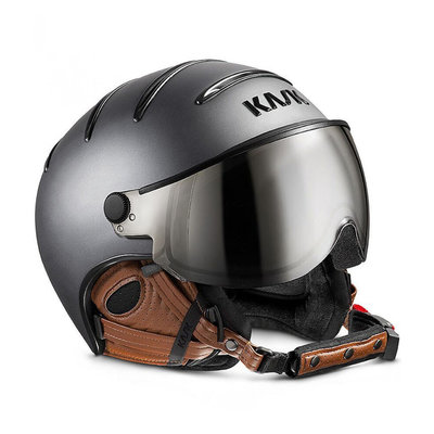Skihelm met Vizier Kask Class Matt Antracite-Brown