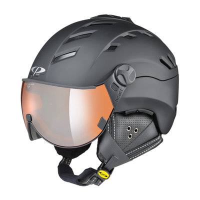 Skihelm CP camurai  - zwart - orange silver mirror Vizier cat. 2 - (☁/❄/☀)