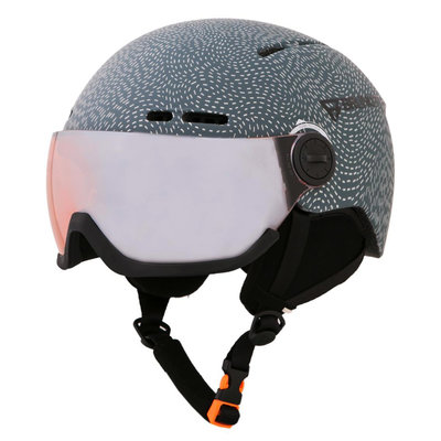 Skihelm met Vizier Brunotti oberon 3  - night blue - orange mirror Vizier  (☁/☀)