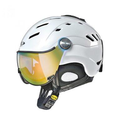 CP Camurai Skihelm - Pearl White Shiny - dl vario lens multicolour mirror S2 -S3 (☁/❄/☀)