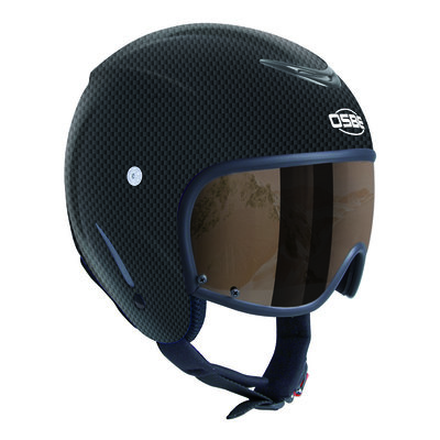 Skihelm Osbe Bellagio met Vizier Carbon Look  cat. 2 (☁/❄)