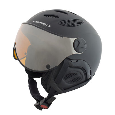 Skihelm Mango cusna free - black - orange mirror cat.2 vizier (☁/☀/❄)