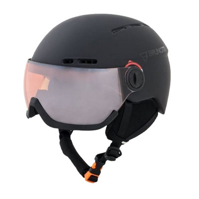 Skihelm met Vizier Brunotti oberon 4  - black - orange mirror Vizier  (☁/☀)